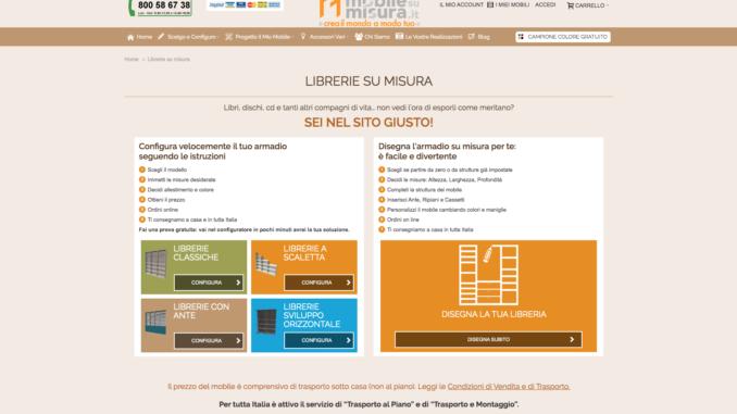 mobile libreria angolare